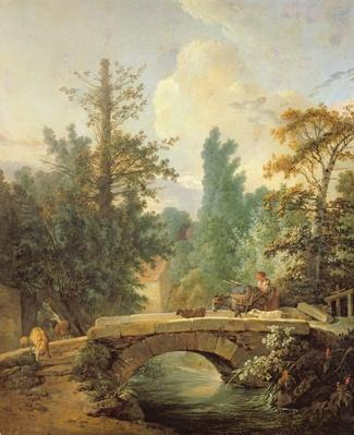 Peasant and her Donkey Crossing a Bridge, 1775
