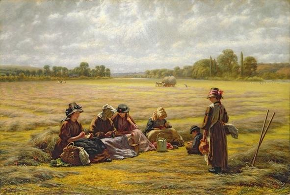 Harvesters resting in the Sun, Berkshire, 1865