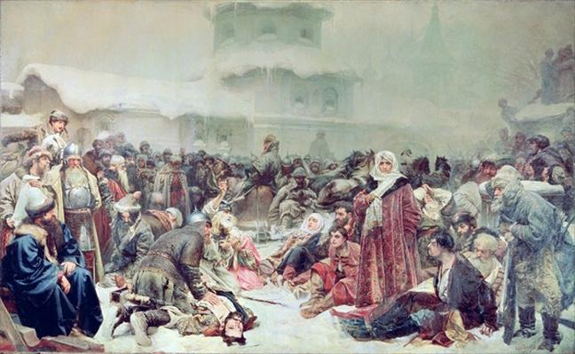 Destruction of Novgorod by Tsar Ivan III