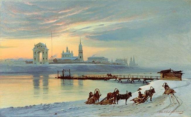 The Angara Embankment in Irkutsk, 1886