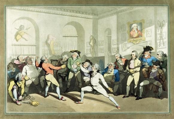 Mr H Angelo's Fencing Academy, engraved by Charles Rosenberg, 1791