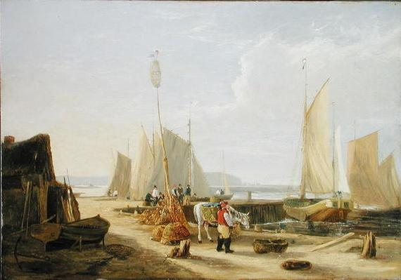A Harbour Scene in the Isle of Wight, looking towards the Needles, 1824