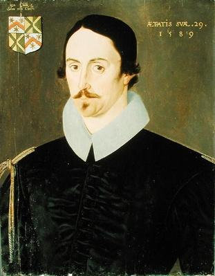 An Unknown Man, Aged 29, Possibly of the Kempe Family, 1589