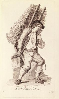 The Faggot Seller, from 'Petits Metiers de Paris'