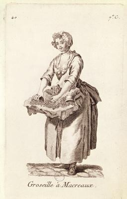 'Gooseberries for mackerel', The Gooseberry Seller, from 'Petits Metiers de Paris'