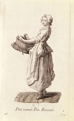 The Pea Seller, from 'Petits Metiers de Paris'