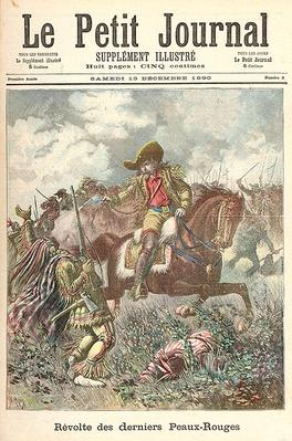 Revolt of the Last of the Redskins, from 'Le Petit Journal', 13th December 1890