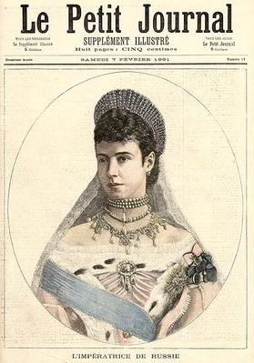 Empress of Russia, from 'Le Petit Journal', 7th February 1891