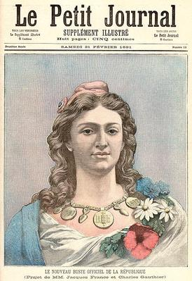 Marianne, the New Official Representation of the French Republic, from 'Le Petit Journal', 21st February 1891