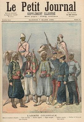The Colonial Army, from 'Le Petit Journal', 7th March 1891