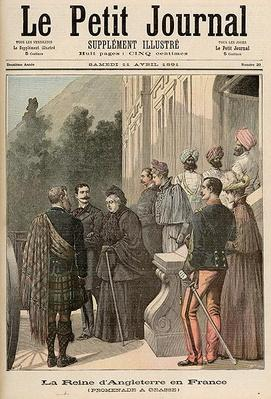 The Queen of England in France: A Walk in Grasse, from 'Le Petit Journal', 11 April 1891