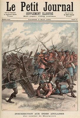 The Battle of Manipur, from 'Le Petit Journal', 2nd May 1891