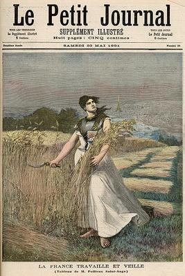 Allegory of France, from 'Le Petit Journal', 23rd May 1891