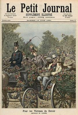 For the Victims of Duty: The Battle of Flowers, from 'Le Petit Journal', 13th June 1891