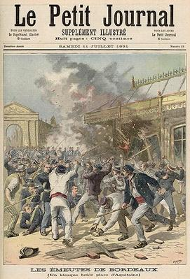 Events in Bordeaux: Burning a Kiosk in Place d'Aquitaine, from 'Le Petit Journal', 11th July 1891