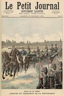 Review of Troops, 14th July: Arrival of the President of the Republic, from 'Le Petit Journal', 18th July 1891