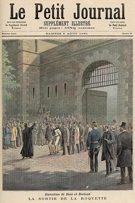Execution of Dore and Berland: Leaving La Roquette, from 'Le Petit Journal', 8th August 1891