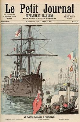 The French Flotilla in Portsmouth, from 'Le Petit Journal', 29th August 1891