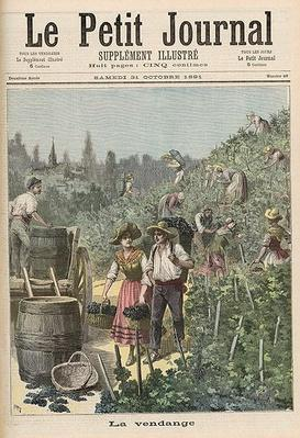 The Wine Harvest, from 'Le Petit Journal', 31st October 1891