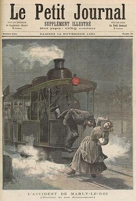 An Accident at Marly-le-Roi: Victim of his Dedication, from 'Le Petit Journal', 14th November 1891