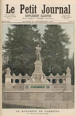 Monument to Gambetta at Ville-d'Avray, from 'Le Petit Journal', 21st November 1891