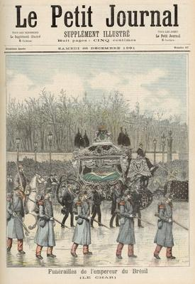 The Funeral of the Emperor of Brazil: The Carriage, from 'Le Petit Journal', 26th December 1891