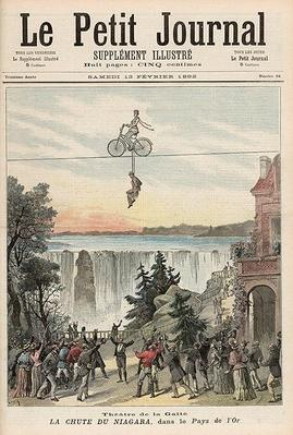 Theatre de la Gaite Performers at Niagara Falls, from 'Le Petit Journal', 13th February 1892