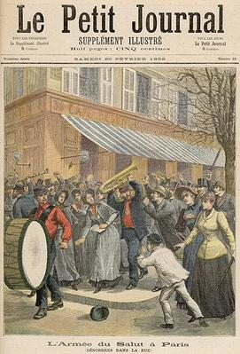 Uprising against a Salvation Army Procession in Paris, from Le Petit Journal, 20th February 1892