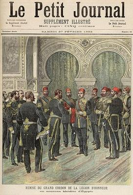 Return of the Grand Cordon of the Legion of Honour to the New Khedive of Egypt, from 'Le Petit Journal', 27th February 1892