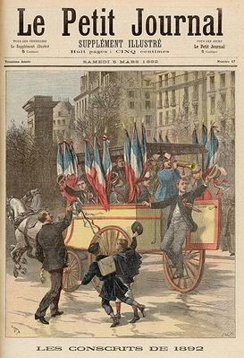 The Conscripts of 1892, from 'Le Petit Journal', 5th March 1892