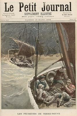 Newfoundland Fishermen, from 'Le Petit Journal', 19th March 1892 by Meyer, Henri (1844-99)
