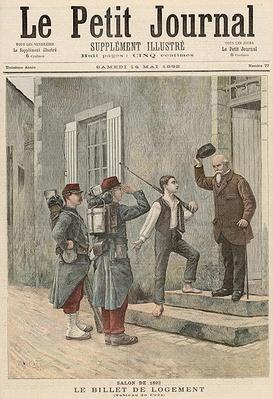 The Billet, after a painting by Cres, from 'Le Petit Journal', 14th May 1892
