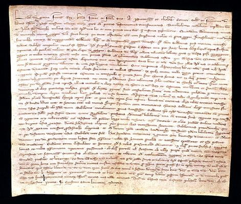 Letter from Louis IX to his brother Alphonse