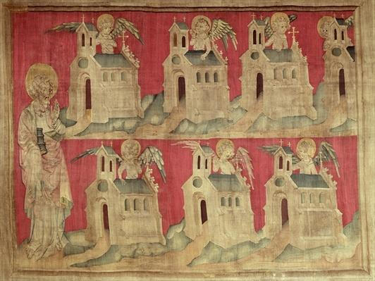 St. John and the Seven Churches of Asia, no.2 from 'The Apocalypse of Angers', 1373-87