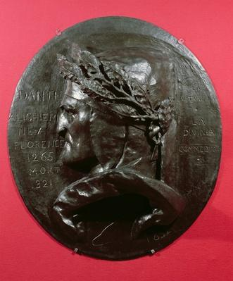 Medallion depicting Dante Alighieri