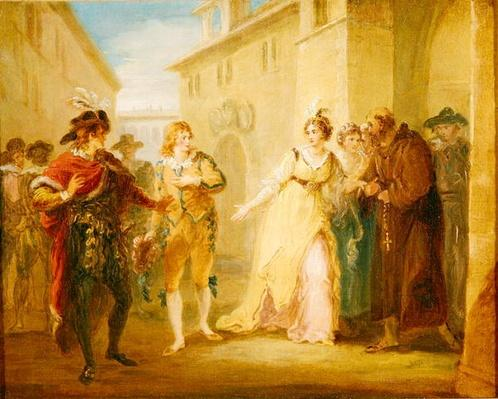 The Revelation of Olivia's Betrothal, from Act V, Scene i of 'Twelfth Night', c.1790