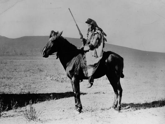 Shoshone Indian On Horseback | Native American Civilizations | U.S. History