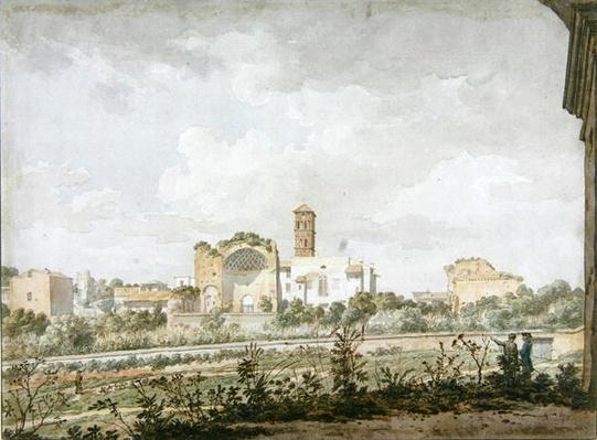 Temple of Venus and Rome, Rome, 1781