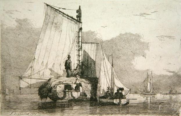 Boats at Braydon, 1825
