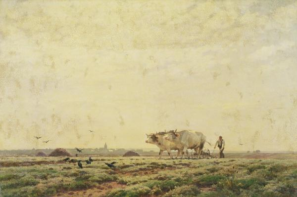 The First Furrows, Haute Alsace or The Labourer, 1883