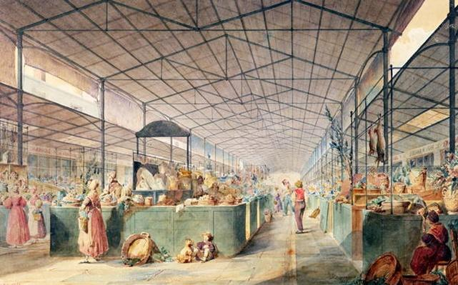 Interior of Les Halles, 1835