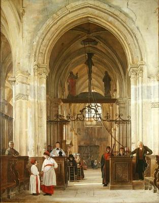 Interior of the Church of St. Prix, Valle de Montmorency, 1828