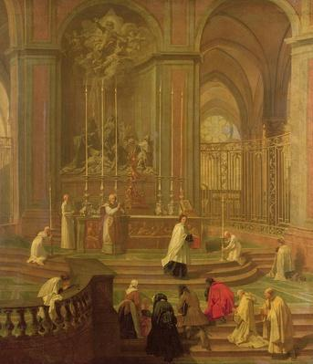 The Mass of Canon Antoine de La Porte or, The Altar of Notre Dame, 1708-10