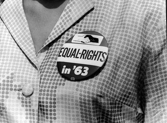 March On Washington Button | Civility & Brutality | The 20th Century Since 1945: Civil Rights & the New Millennium