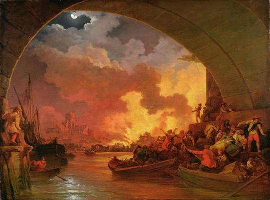 The Great Fire of London, c.1797