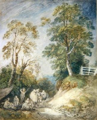 Wooded Landscape with Gypsy Encampment, c.1760-65