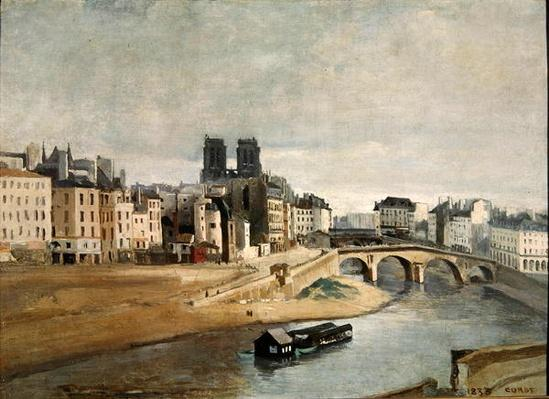 The Seine and the Quai des Orfevres, 1835