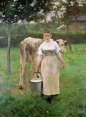 Manda Lametrie, The Farm Maid, 1887