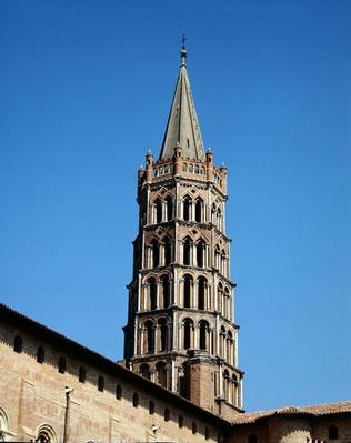 View of the belltower of the church, 12th-13th century