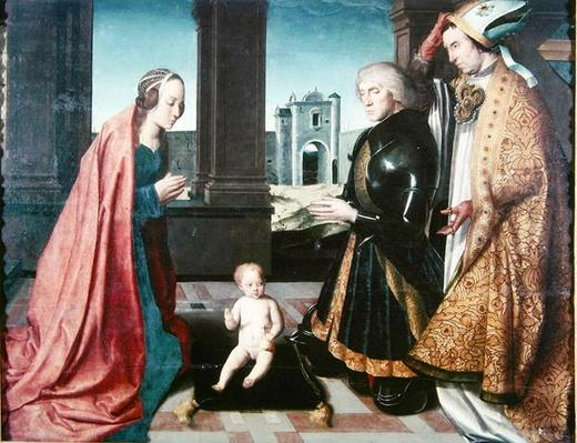 The Infant Christ Adored by a Knight, 15th-16th century